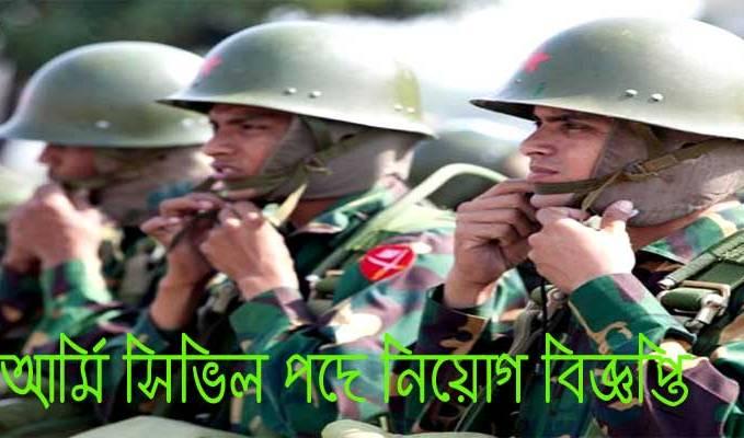 Army Job Circular Civil Post