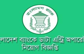 Bangladesh Bank Data Entry Job Circular