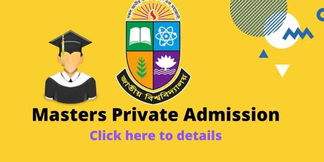 Masters Private Admission Final under National University 2020