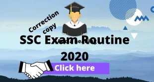 SSC Exam Routine 2020 Correction Copy