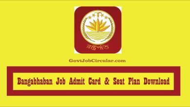 Bangabhaban Admit Card
