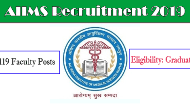 Photo of AIIMS Recruitment Notification for the 119 Faculty Posts