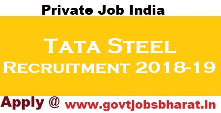 Tata Steel Recruitment 2019 : Apply Online For Jr  Engineer