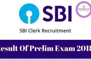 sbi clerk pre result 2018,sbi clerk 2018 pre result