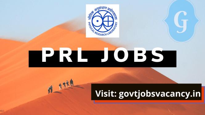 PRL Recruitment