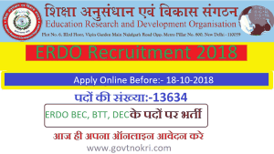 Bihar ERDO Recruitment 2018