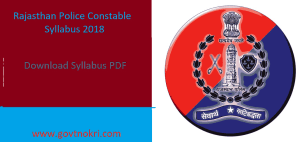 Rajasthan Police Constable Syllabus 2018