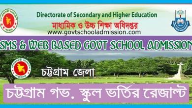 Ctg Govt School Admission Result