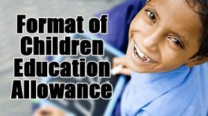 Format of Children Education Allowance