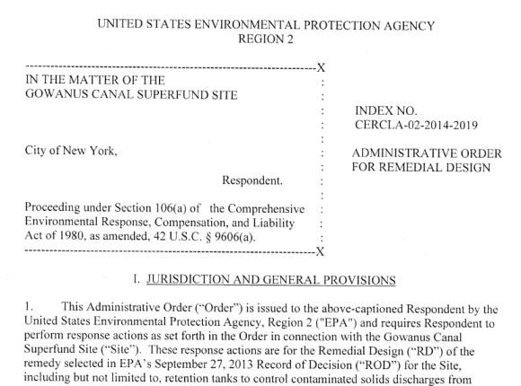 EPA Consent Order