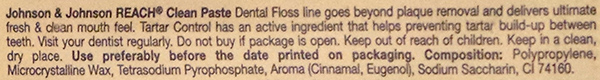 johnson-&-johnson-dental-floss-ingredients