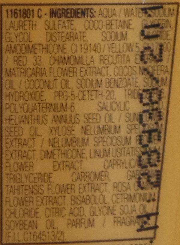shampoo-elvive-ingredients