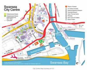 Street map Swansea Bay and Mumbles