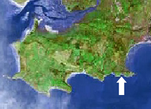 Location of Rotherslade Gower