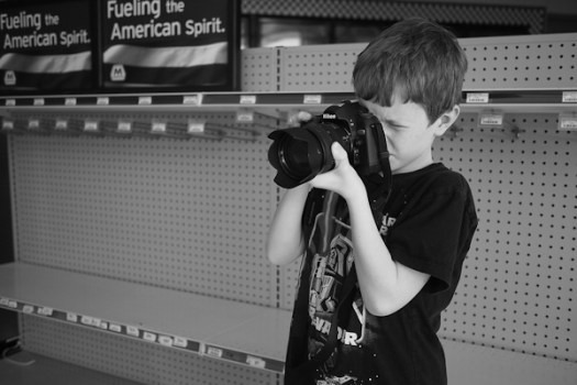 Liam making pictures
