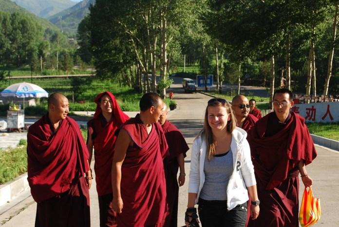 podróż z mnichami