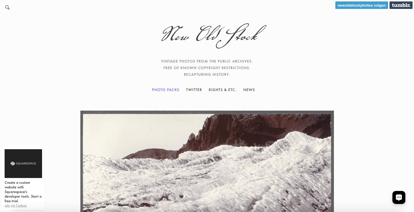 New Old Stock Webサイト
