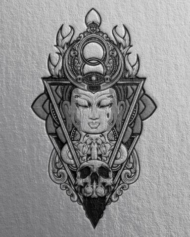 デザイナーのインスピレーションを掻き立てるための画像、仏像