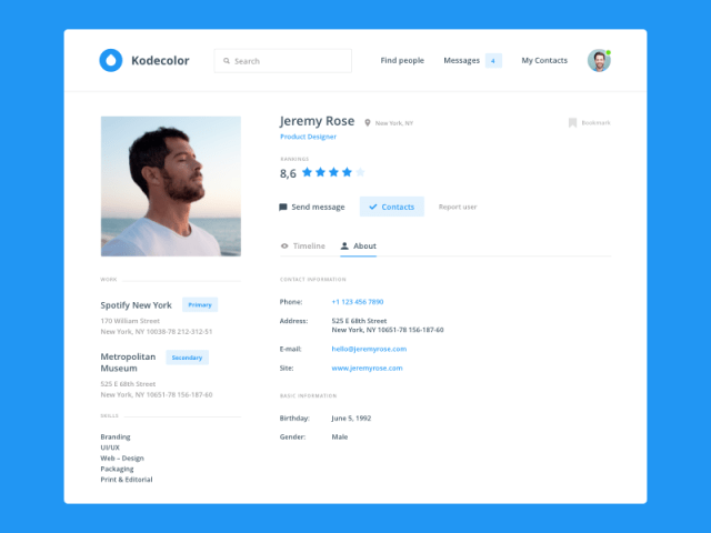 Day 006 — Profile Page