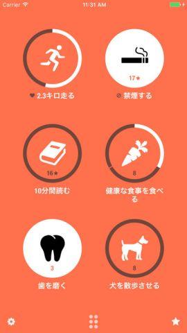 習慣アプリのスクリーンショット