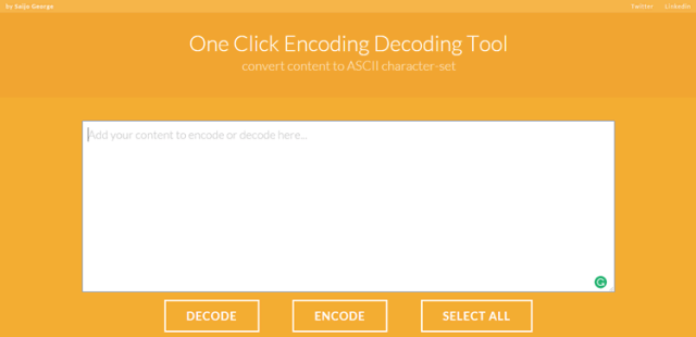 One Click Encoding Decoding Tool