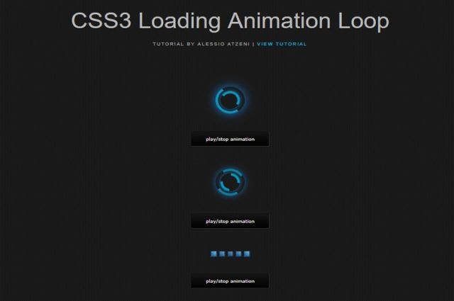 アニメーションループをロードするCSS3