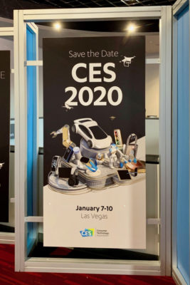 CES 2020の開催を告知するポスター