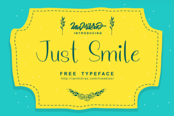 Just Smile Free Typeface