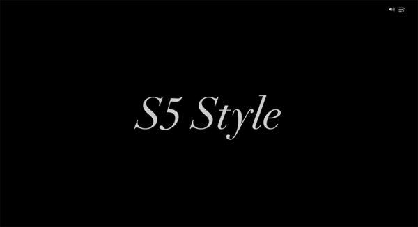 『S5-Style』田渕将吾氏のポートフォリオサイトのTOPページ