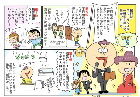 つぼいひろき 漫画 フリーランス、家を買う