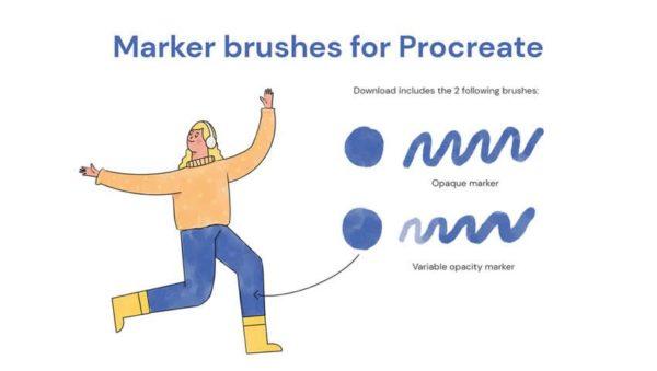 Marker Brushes for Procreate