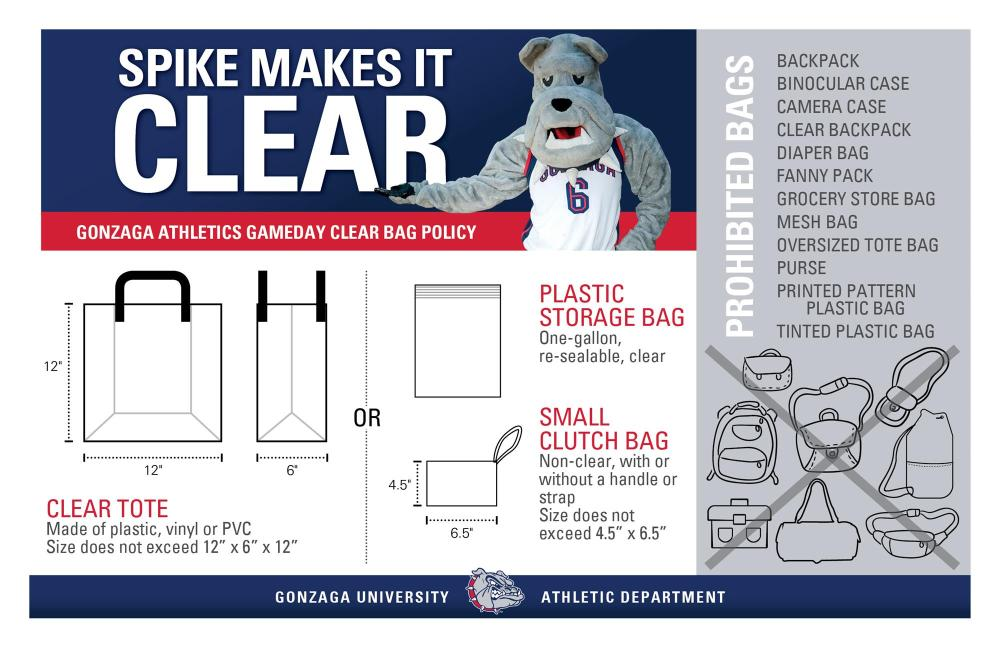 medium resolution of clear bag policy graphic