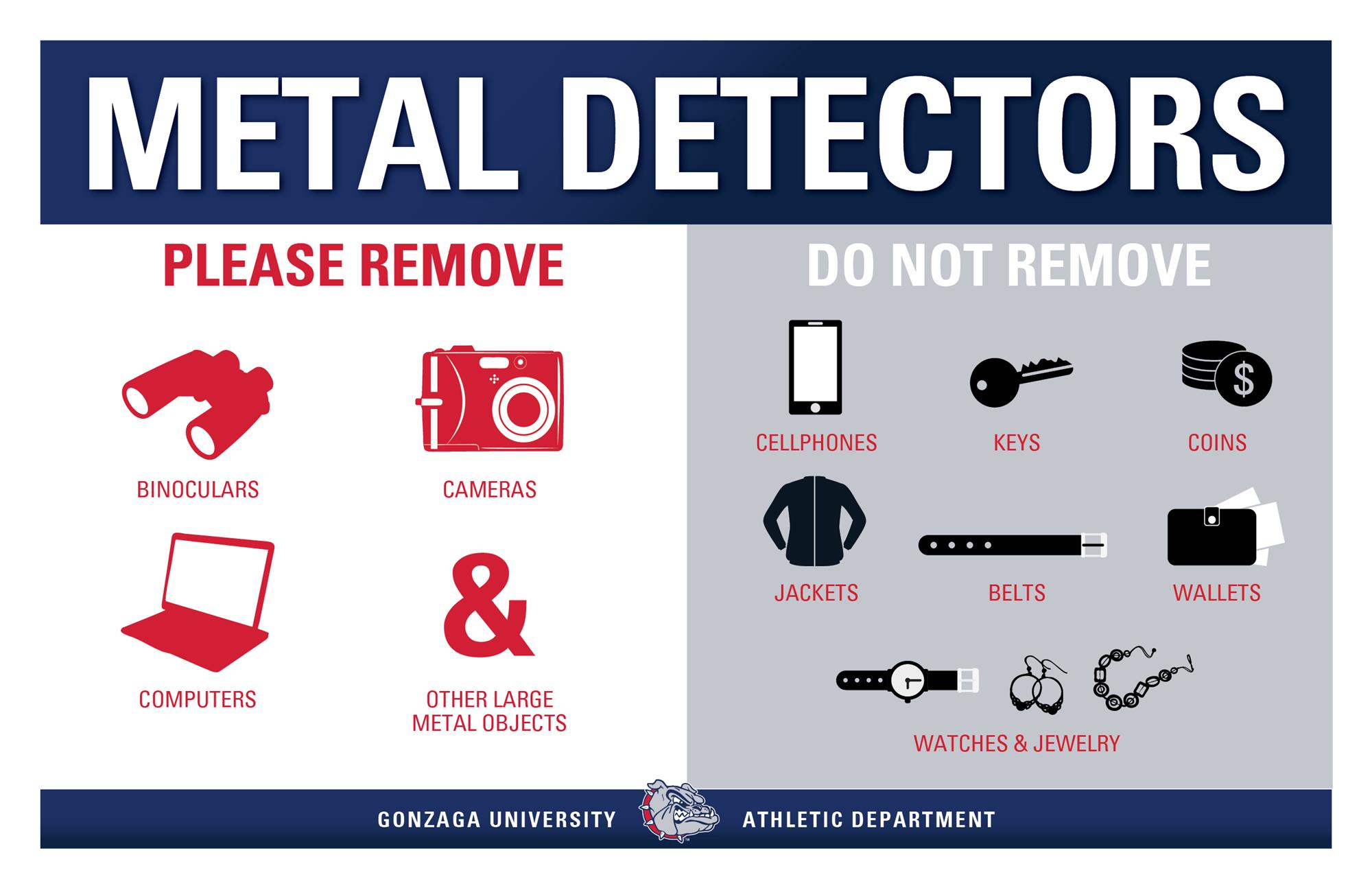 hight resolution of metal detector policy graphic