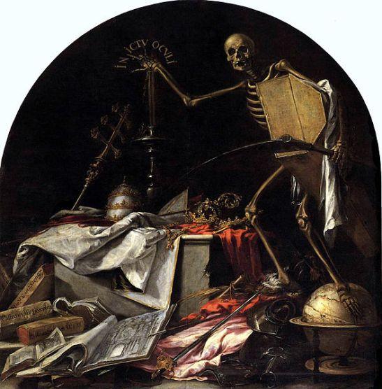 """Una de las terribles pinturas del Hospital de la Caridad: """"In ictu oculi"""", o sea, en un abrir y cerrar de ojos, que es lo que a la Muerte le cuesta hacer su trabajo"""