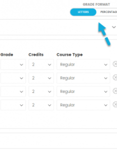 High school gpa calculator step select grade format also rh gpacalculator