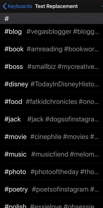 Some of my favorite hashtags