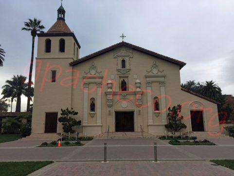 The exterior of Mission Santa Clara