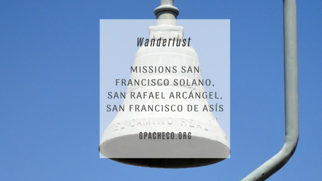 My picture of the mission bell at San Francisco Solano