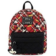 Mickey Mouse Red Plaid Mini Backpack