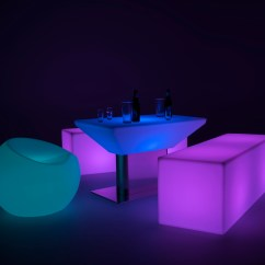 Led Table And Chairs Chairman Meaning In Hindi Light Up Lounge Chair 16 Multicolored Modes Soft Glow Bench Set With Sphere