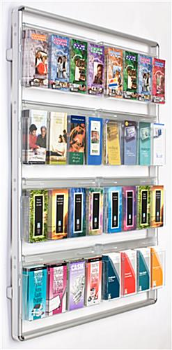 These Wall Magazine Holders From Have 16 Acrylic Pockets The Silver Frame