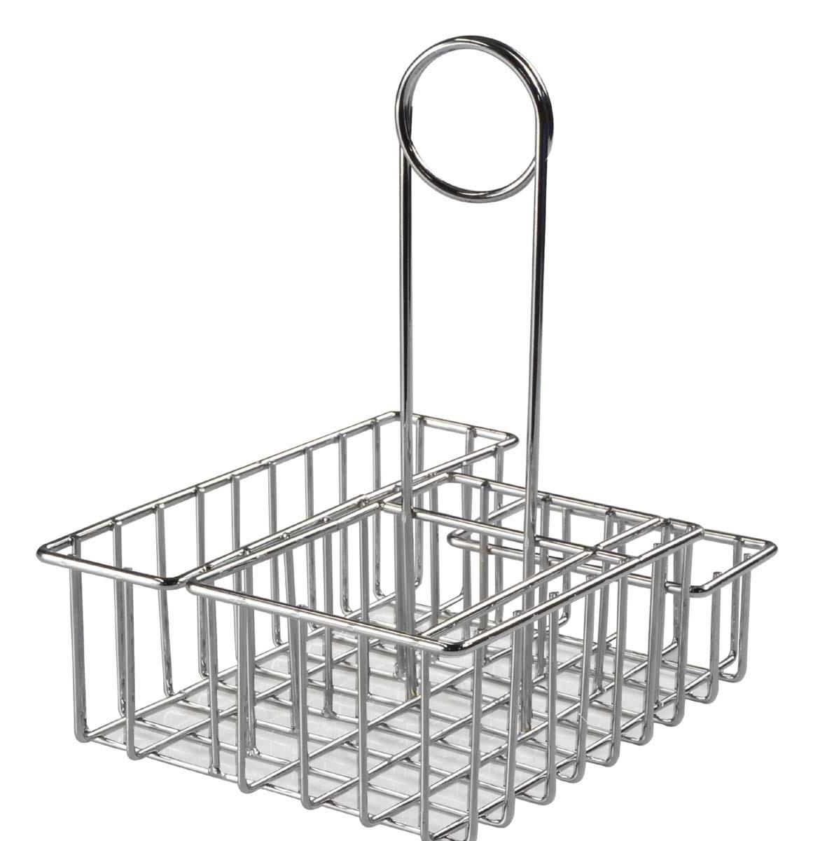 This Wire Condiment Rack Makes Cleaning a Breeze! One of