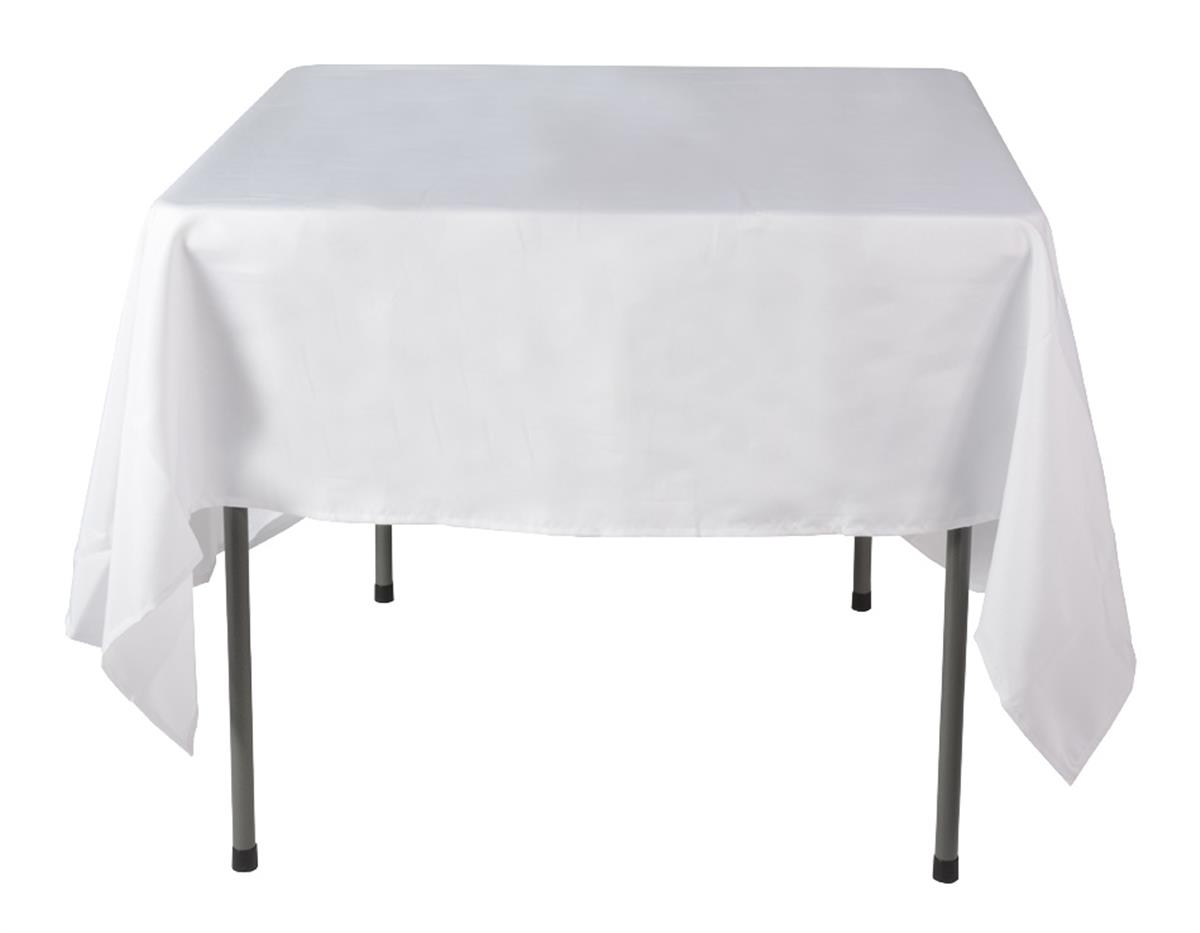 polyester sofa washing machine red reclining sectional this white restaurant tablecloth cleans easily in the