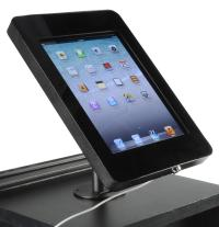 iPad Holder with Locking Function | Black Steel