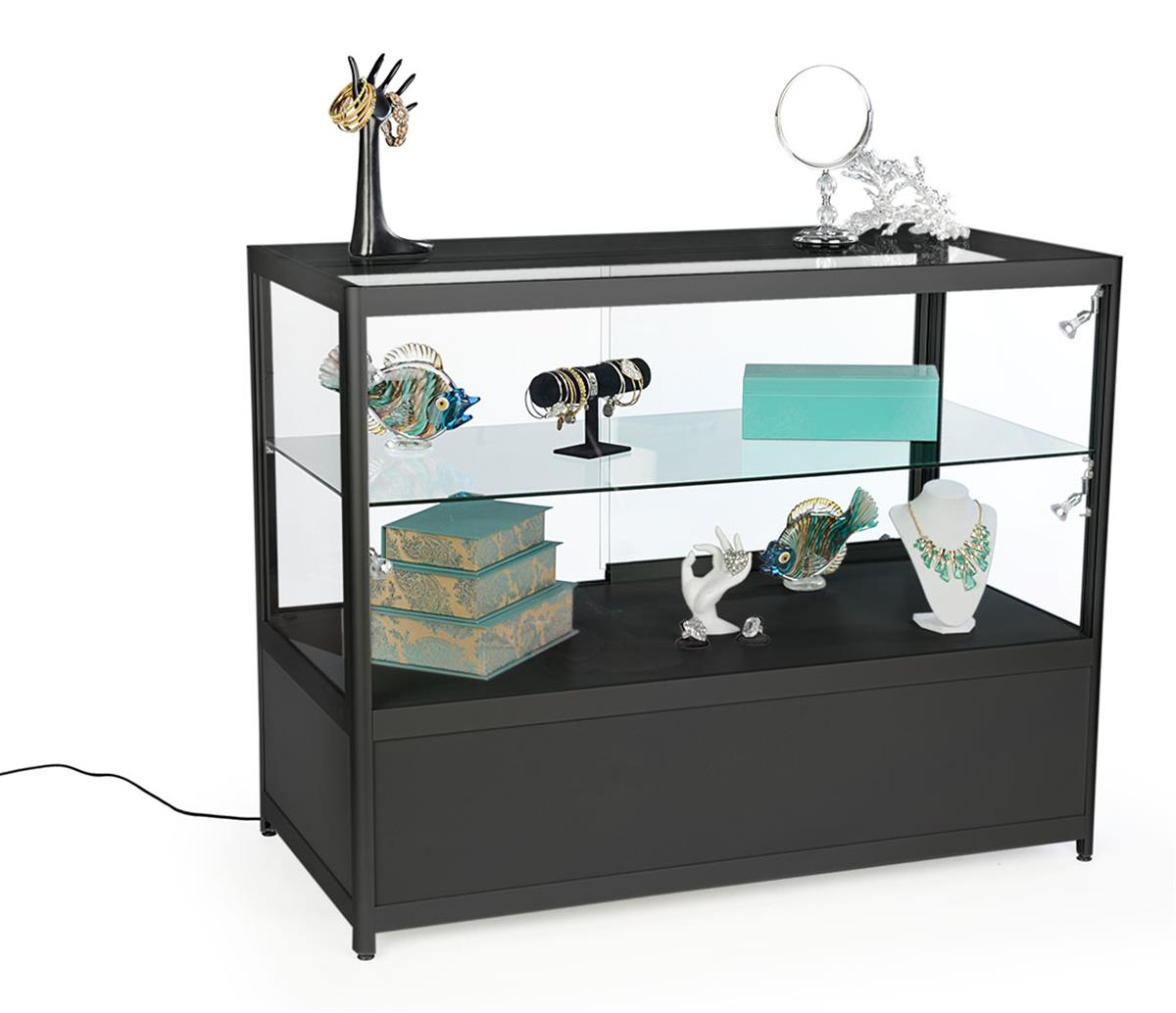 Locking Display Cabinets  Adjustable Side Lights