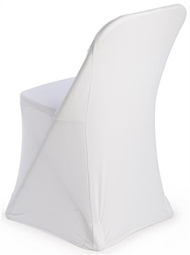 spandex folding chair covers amazon eames design history white stretch | slipcover for banquet settings