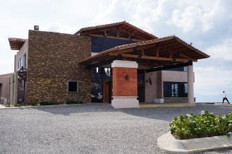 Vista del acceso principal de la posada Estancia Altos de Veracruz