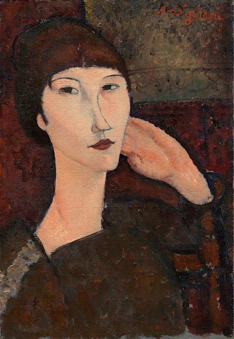 512px-Amedeo_Modigliani_-_Adrienne_(Woman_with_Bangs)_(1916)