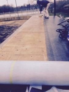 In progress flat roof