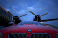 BMW Roundel in front of Props.